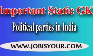 Political parties in India before Indian National Congress